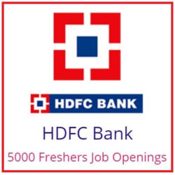 HDFC 5000 Freshers Recruitment