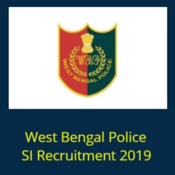 West Bengal Police SI Recruitment